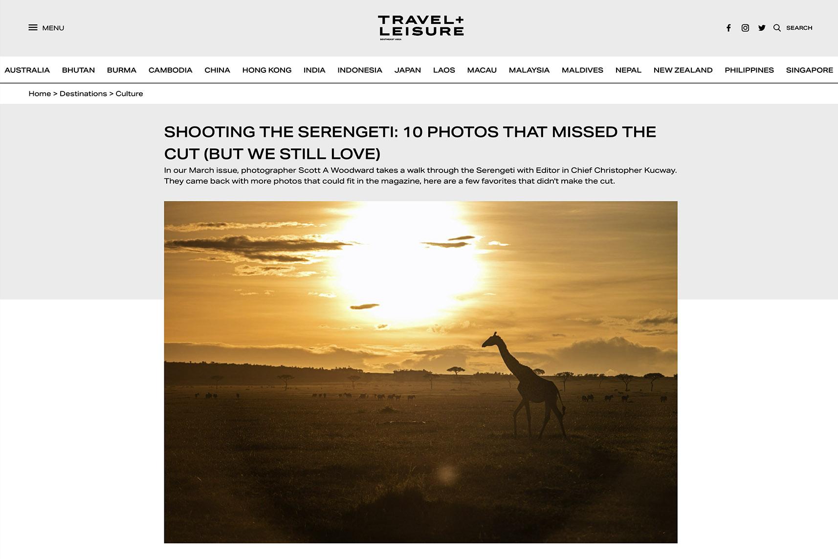 WOODWARD T+L Serengeti Online
